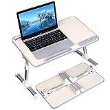Gladle Höhenverstellbarer Laptoptisch fürs Bett Betttisch, Tragbare...