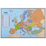 XXL Memotafel als Europakarte mit Pinnfunktion