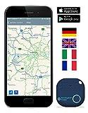 musegear Schlüsselfinder mit Bluetooth App I Version 2 I Keyfinder laut für Handy in dunkelblau I GPS Ortung/Kopplung I Schlüssel Finden