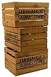 3er Set Massive Obstkiste Apfelkiste Weinkiste aus dem Alten Land +++ 49 x 42 x 31 cm (GEBRAUCHT MIT Aufschrift TS)