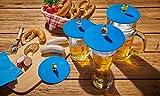 Lurch 210300 Mein Mein Deckel Biergarten 4er Set Glasabdeckungen mit lustigen Figuren