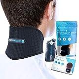 Sports Laboratory  Nackenbandage gegen Nackenschmerzen mit Magneten & Turmalin selbstwärmend verstellbare Cervicalstütze
