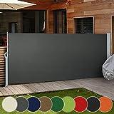 Tenda da Sole Laterale | Diversi Colori e Misure: 160x300cm 180x300cm 200x300cm | Tenda Paravento per Esterno, Protezione da Sole da Giardino, Tendalino per Patio Terrazzo