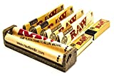 Raw King Size Zigarettenroller mit 4 Raw King Size Zigarettenpapierpäckchen und 2 Broschüren mit Raw Zigarettenrolltipps