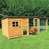 zoo-xxl Hühnerstall Hühnerhaus Küken Stall Paula mit Freilauf für draußen (Paula mit Extra-Auslauf)