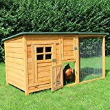 zoo-xxl Hühnerstall Hühnerhaus Küken mit Freilauf für draußen (Paula ohne Extra-Auslauf)
