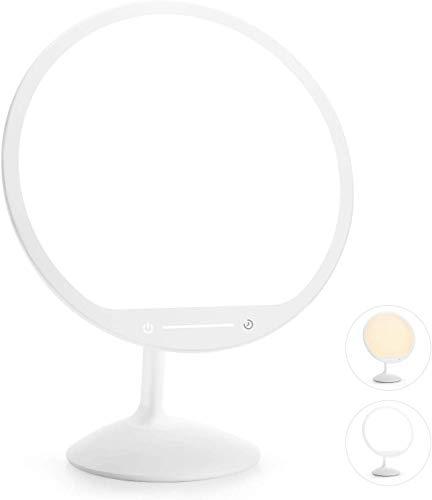 Gladle Tageslichtlampe 10000 Lux, Light Therapy Lampe, LED Lichttherapielampe mit 30min Timer 2 Farbtemperatur 10' Beleuchtungsfläche, Stufenlose Helligkeitsanpassung Touchbedienung