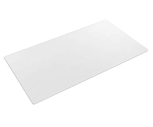 Transparente Schreibtischunterlage, 90 x 40 cm, große, rutschfeste strukturierte PVC-Schreibunterlage, wasserdichte runde Kanten, Schreibtischunterlage für Büro, Zuhause