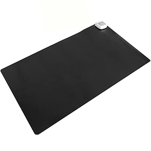 PrimeMatik - Heizteppich Thermisches Heizmatte Beheizter Teppich Pad-Schreibtisch 60x36cm 65W schwarz