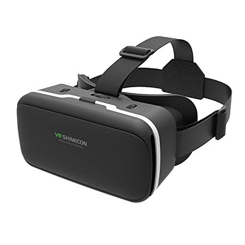 GUBENCI VR Brille Handy Virtual Reality Headset, 3D VR-Brille Erleben Sie Spiele und 360 Grad Filme in 3D mit weicher & komfortabler VR Brille Glasses für iPhone Samsung Android Handy 4.7-6.5 Zoll