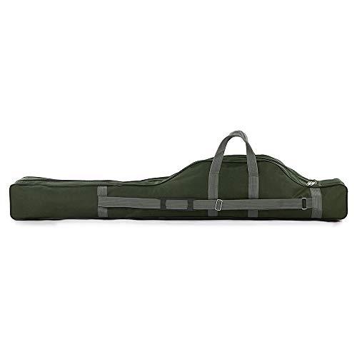 Festnight Rutentasche Angeltasche Rutenfutteral 80cm/100cm/130cm/150cm Tragbare Angelrute Tasche Tragetasche Organizer,Army Green 80CM