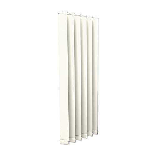 Victoria M. Lamellenvorhang, Jalousie Isabella - I-Form, leicht lichtdurchlässig - 12,7 x 250 cm, weiß | 6er Pack