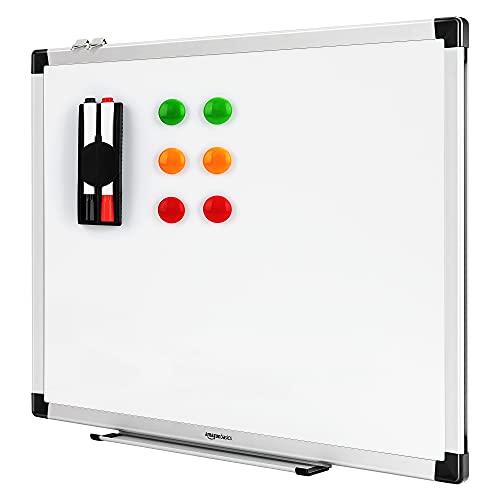 Amazon Basics Magnetisches Whiteboard mit Stiftablage und Aluminiumleisten, trocken...