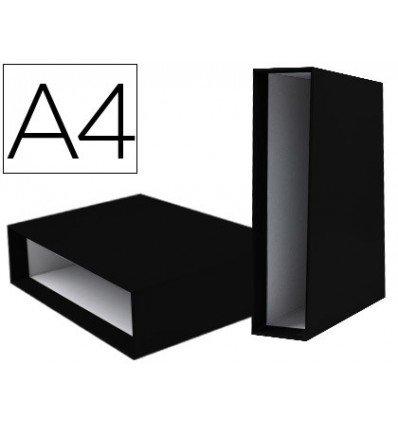 Box Aktenordner LIDERPAPEL-Carton A4Unterlagen dokumentiert Rückenbreite 82mm Schwarz