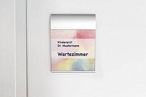 Türschild Office Star, f. Büro, Office, Praxis, Verwaltung, Acrylscheibe, 160 x 120 mm, hochkant/quer