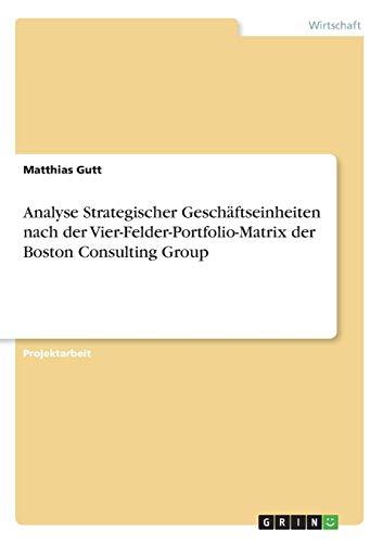 Analyse Strategischer Geschäftseinheiten nach der Vier-Felder-Portfolio-Matrix der Boston Consulting Group