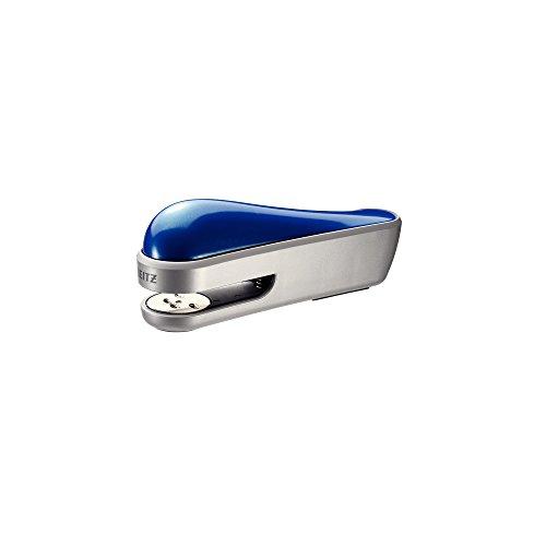 Leitz 55030033 Heftgerät (30 Blatt, Metall mit Kunststoffgehäuse, Inkl. Heftklammern, Allura) kristall blau