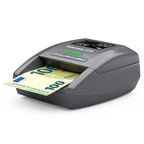 Detectalia D7X - EUR, GBP, CHF, PLN, CZK und SEK Automatisches Falschgeld Prüfgerät...