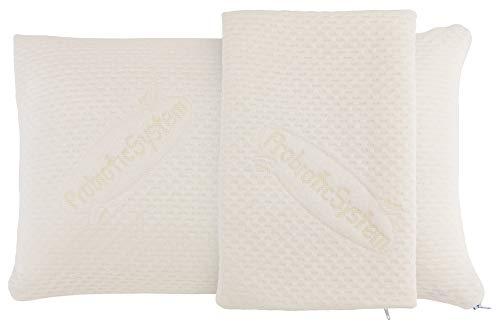 Probiotic Argentum+ TRAVEL orthopädisches Reisekissen, Höhe 12 cm,40x24 cm, maschinell waschbar, Bezug mit Silberionen