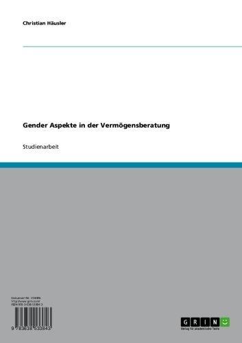 Gender Aspekte in der Vermögensberatung