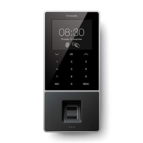 TimeMoto TM-828 - Zeiterfassungssystem mit Fingerabdruck- und RFID-Leser für bis zu 2.000 Benutzer - Inklusive Personal-Management-Lösung
