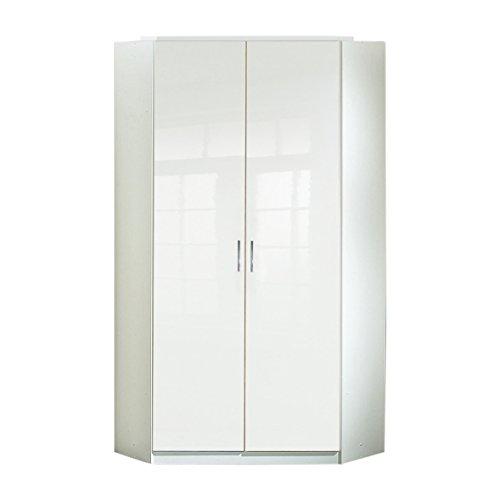 Wimex Kleiderschrank/ Eckschrank Clack, (B/H/T) 95 x 198 x 95 cm, Weiß