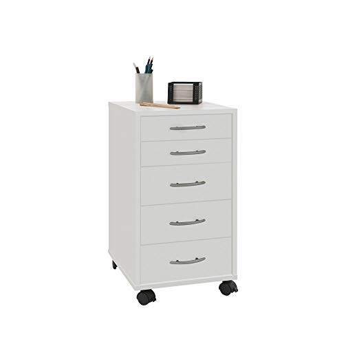 FMD Möbel Rollcontainer Freddy in weiß