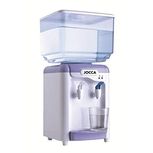Jocca 1102 Wasserspender mit Tank, Weiß und Lila, 23x23x47,5 cm