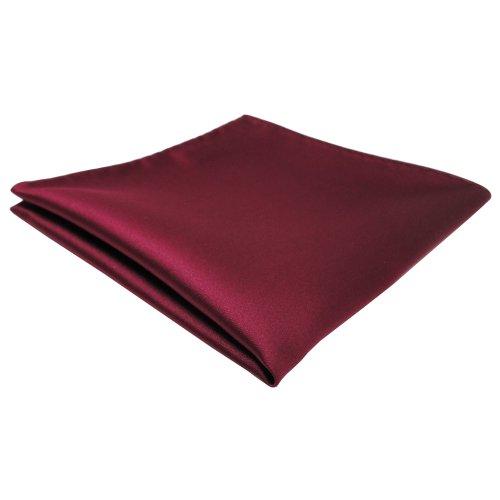 TigerTie Designer Einstecktuch in rot bordeaux einfarbig uni