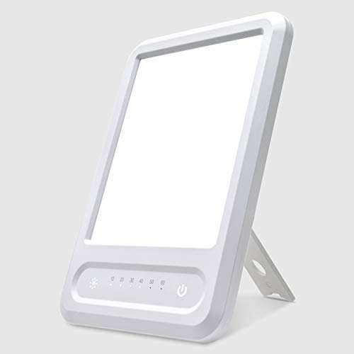 Zuukoo Tageslichtlampe 10000 Lux, UV-Free Vollspektrumlampe, Lichttherapielampe Mit 3 Helligkeitsstufen Und 60 Min Timer, Touch-Steuerung, Einstellbar Standfuß, Warmweiss/Kaltweiss/Natur weiß