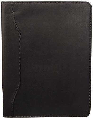 Idena 229019 Dokumentenmappe DIN A4 in schwarz mit Reißverschluss, 1 Block enthalten