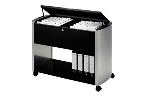 Durable 3080121 Design Line Hängemappenwagen 100 Top, anthrazit / metallic silber