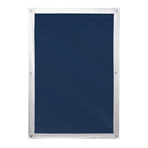 Lichtblick Dachfenster Sonnenschutz Haftfix in Blau, 94 x 96,9 cm, Thermorollo mit reflektierender Außenbeschichtung, ohne Bohren, mit Saugnäpfen für SK06