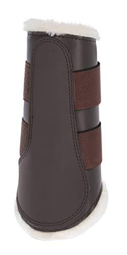Kerbl 3210552 Dressurgamaschen Fleece vorn warmblut braun, L