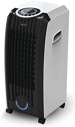 JUNG CAMRY mobiles Klimagerät mit Wasserkühlung, TÜV geprüft, inkl. Fernbedienung + Timer, Mobile Klimaanlage leise, Kühlender Ventilator ohne Abluftschlauch, integ. Luftreiniger