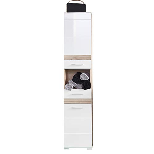 trendteam smart living Bad Hochschrank Set One in Eiche San Remo hell