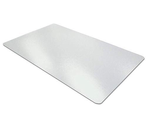 Transparente Schreibtischunterlage | Rutschfest | Runde Kanten | 90 * 40 cm| Schreibmatte | PVC Schreibtischmatte | Textured | Desk Pad Mat für Büro- und Computertisch