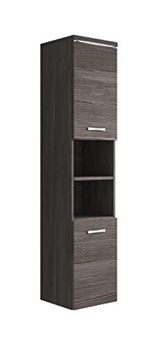 Badezimmer Schrank Paso 160 cm Bodega (Grau) – Regal Schrank Hochschrank Schrank Möbel