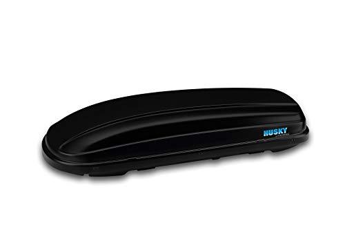 Kamei Dachgepäckbox Husky L in schwarz mit Komfort-Schiebe-Befestigungssystem