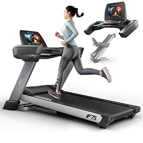 Laufband von Sportstech für bis zu 20 Stundenkilometer mit 15,6-Zoll-Monitor, robust und klappbar