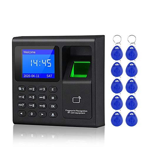 LUCINE 1,8 Zoll biometrischer Fingerabdruck Zeiterfassungssystem Uhrenrekorder Aufzeichnungsgerät Elektronische Maschine F30