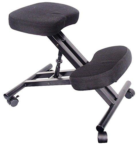 Dynamic24 Kniestuhl Sitzhocker Hocker Kniehocker Computerstuhl Bürostuhl Büro schwarz