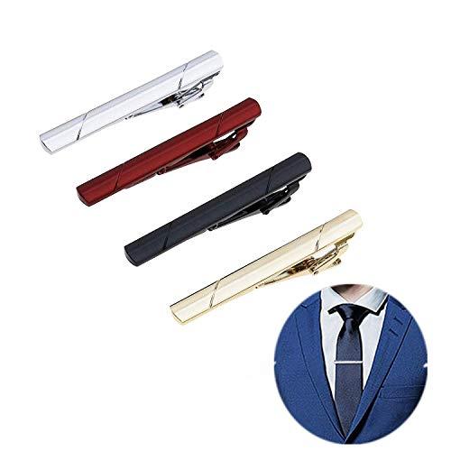 krawattenklammer,4 Stücke Herren Krawattennadel Klassische Herren Skinny Krawattenklammer für Geschäft Hochzeitstag und Alltag