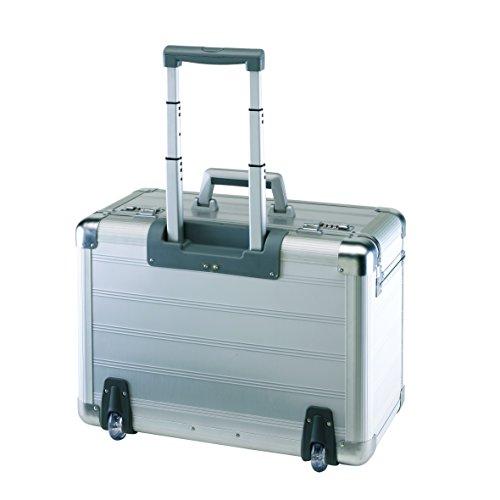 Aluminiumtrolley mit gepolstertem Laptopfach