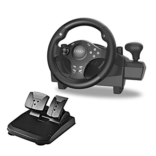 Gaming Rennrad 270 Grad Lenkrad für Rennspiele PC / XBOX ONE / XBOX 360 / PS4 / PS3 / Nintendo Switch / Android mit Pedal Gaspedalbremse