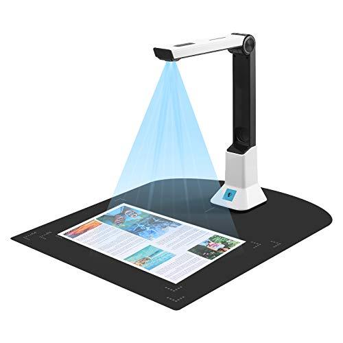Dokumentenkamera, Vogvigo Hochauflösender Scanner,mit Echtzeit-Projektionsvideoaufzeichnungsfunktion,Bankdokumenterkennungsscanner, Verwendung in Klassenzimmern, Büros, Bibliotheken
