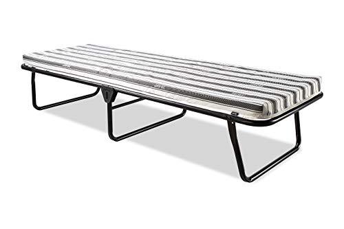 JAY-BE Value-Faltbett mit atmungsaktiver Matratze, Metall, schwarz, W70 x L186 cm
