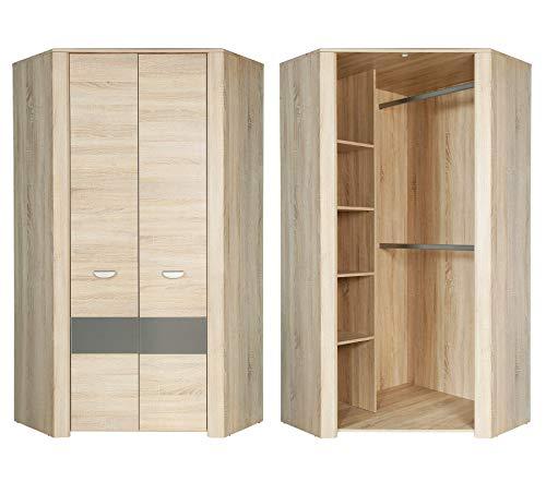 Furniture24 Eckschrank YOOP YPS92 Eckkleiderschrank Schrank 2 Türiger Jugendzimmerschrank