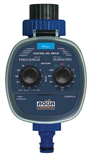 AQUA CONTROL Programmierbarer Bewässerungsregler 2. Programmierer Modell 2019 dunkelblau