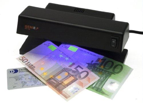 Genie MD 188 Geldscheinprüfer mit 1 starken UV Lichtröhren Lampe für viele Währungen geeignet